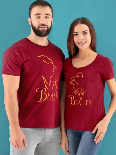 Shop for beauty and the beast couple t-shirt