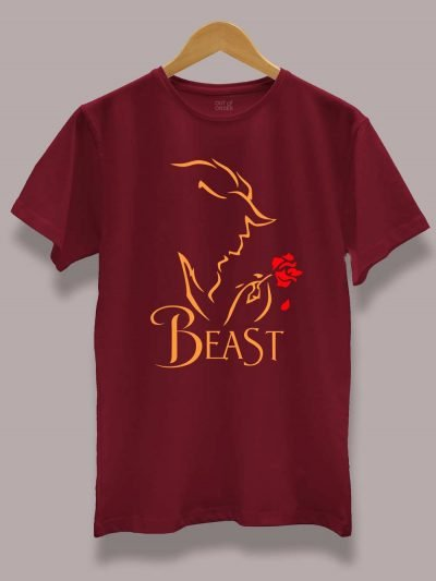 beauty and the beast couple t-shirt for men