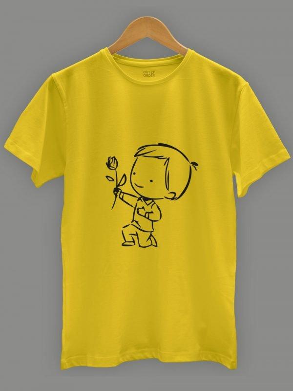Cute Proposal Couple T-shirt 4