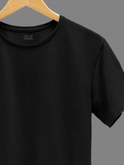 Men's Black T-shirt Plain