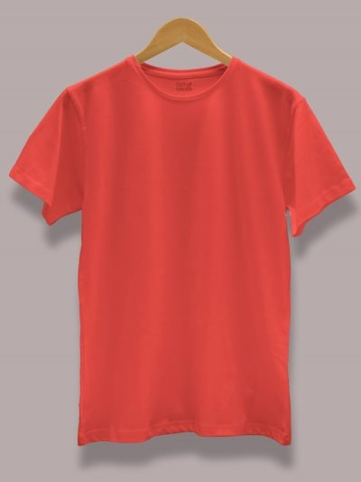 Men's Red T-shirt, Round neck and half sleeves