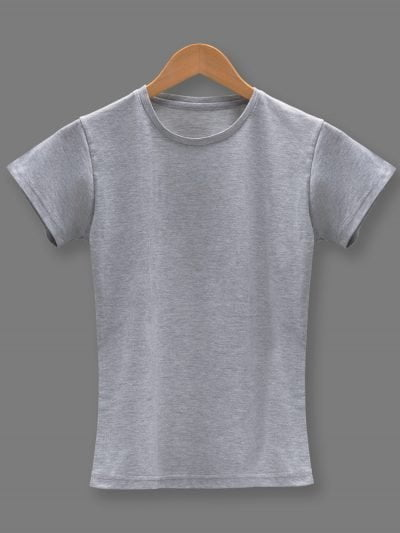 Women's grey t-shirt plain