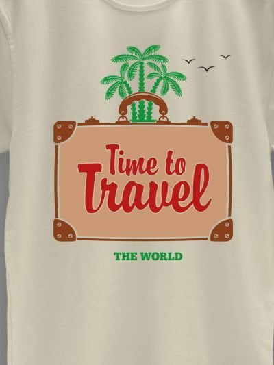 close up of Time to Travel T-shirt design