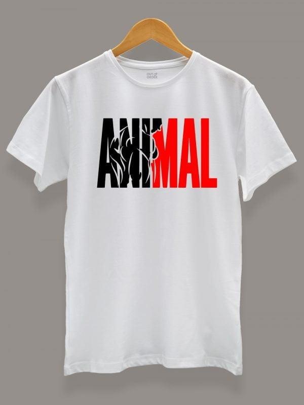 Men's Animal T-shirt on a hanger