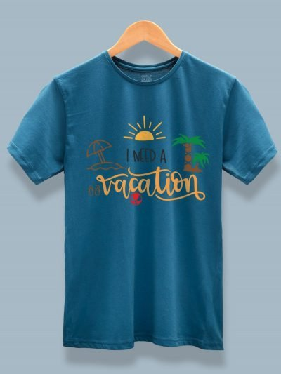 I Need a Vacation T-shirt for Men on a hanger