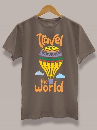 Travel the World T-shirt for men on a hanger