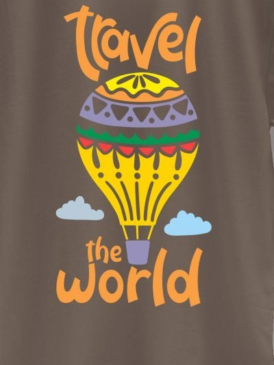 close up of Travel the World T-shirt design