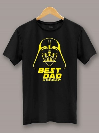 Buy Best Dad in the Galaxy T-shirt , displayed on a hanger