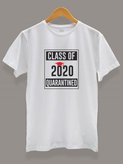 Class of 2020 Quarantined T-shirt on a hanger