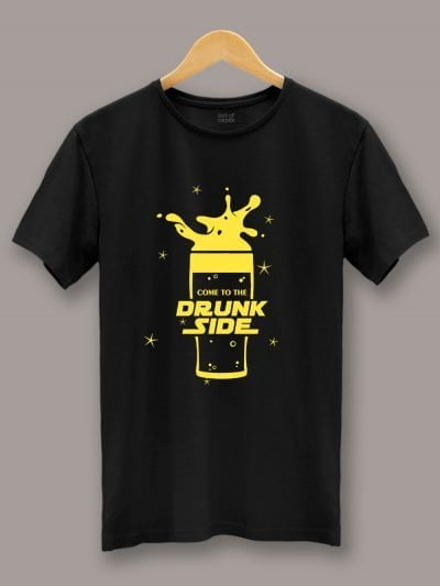Buy Drunk Side T-shirt displayed on a hanger