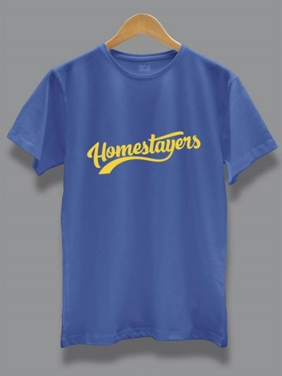 Home Stayers Quarantine T-shirt for Men Displayed on a hanger