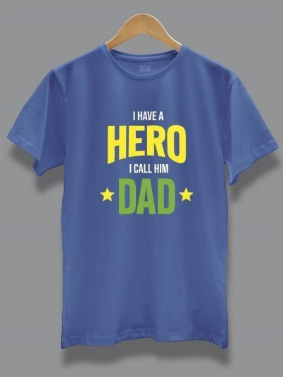 Buy I Have a Hero T-shirt online, displayed on a hanger