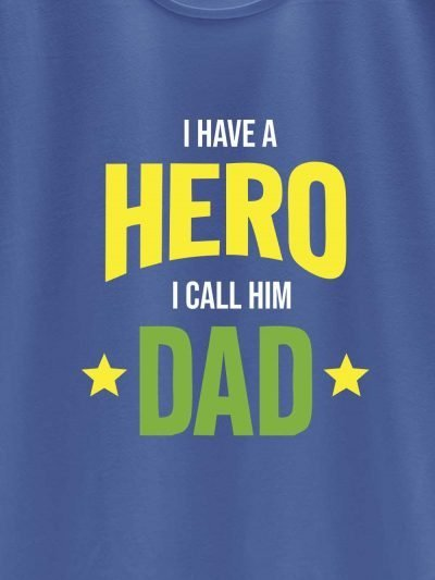 close up of I Have a Hero T-shirt design