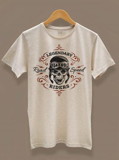 Men's Legendary Rider T-shirt displayed on a hanger
