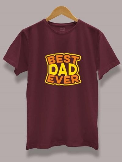 Buy Best Dad Ever T-shirt displayed on a hanger