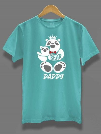 buy daddy bear t-shirt, displayed on a hanger