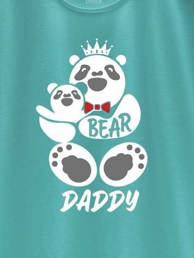close up of daddy bear t-shirt design