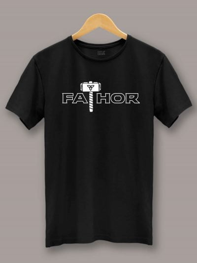 Buy Fathor T-shirt, displayed on a hanger