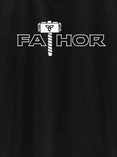 close up of fathor t-shir design