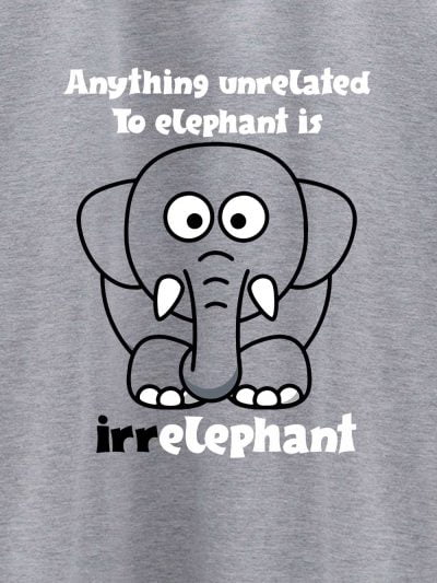 close up of Irrelephant Men's T-shirt