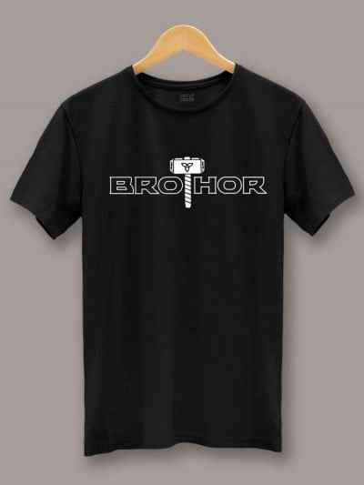 buy Bro Thor t-shirt displayed on a hanger