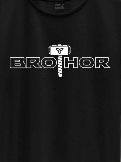 close up of bro thor t-shirt design