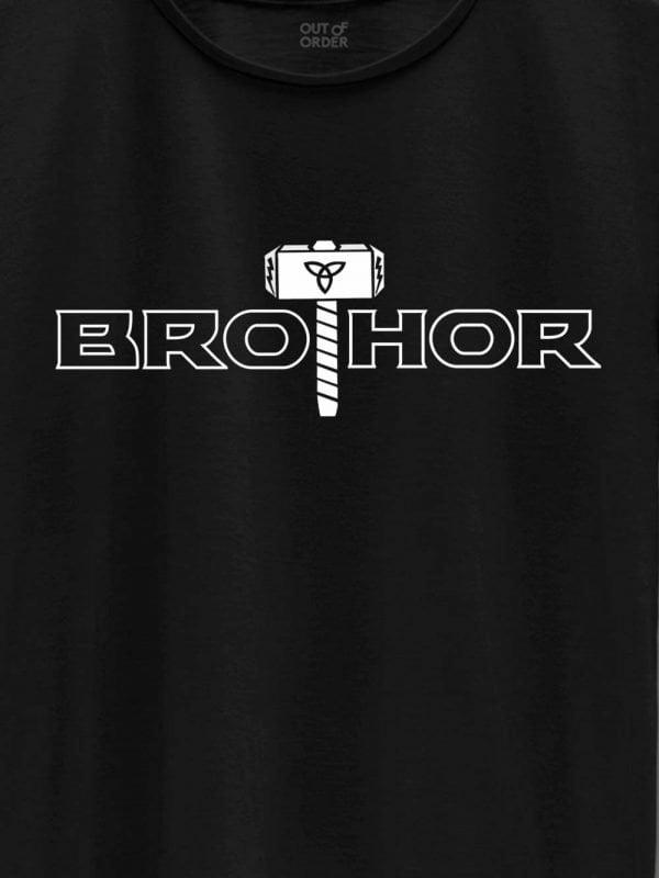 close up of bro thor t-shirt design