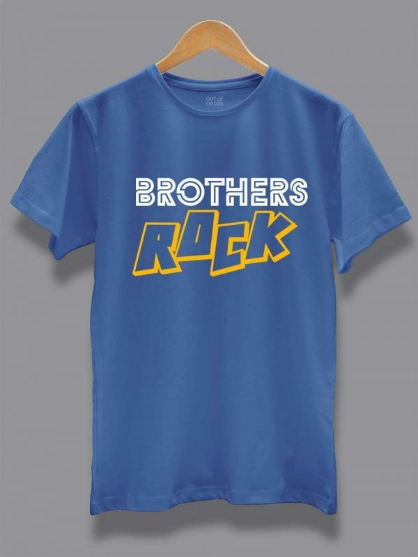 Buy Brothers Rock T-shirt displayed on a hanger