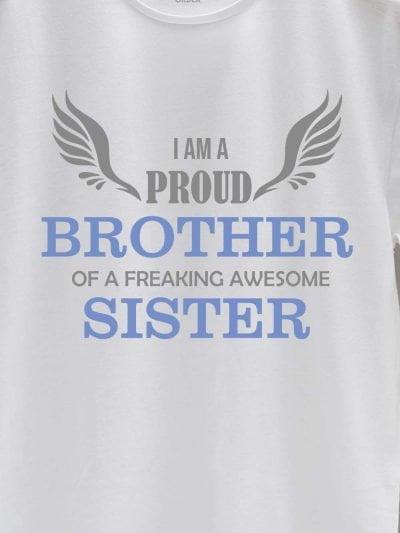 close up of proud brother t-shirt design