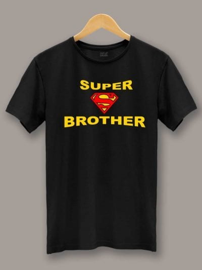 Buy Super Brother T-shirt Displayed on a Hanger