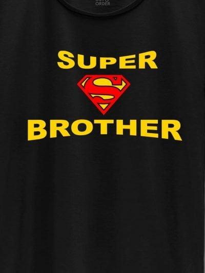 close up of Super Brother T-shirt design