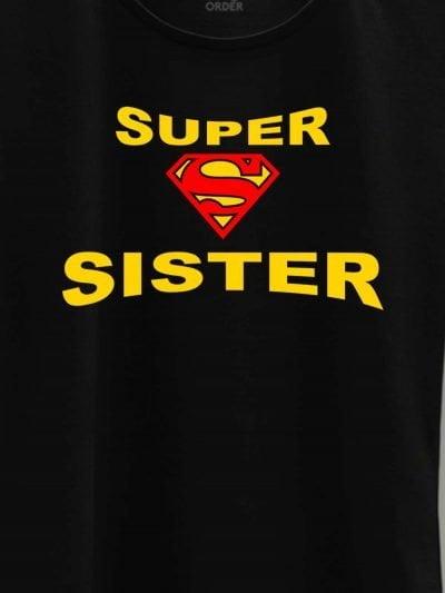 close up of Super Sister T-shirt design