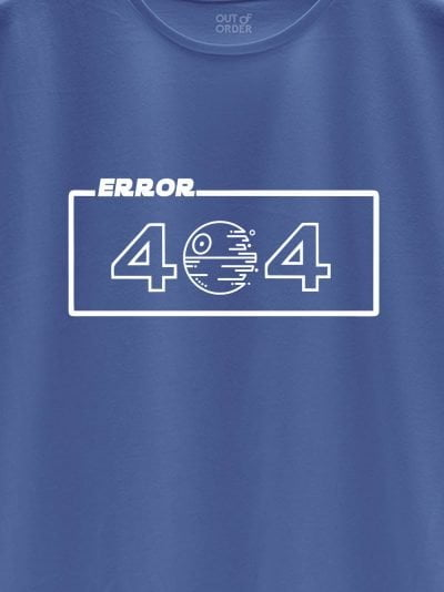 close up of error 404 t-shirt design