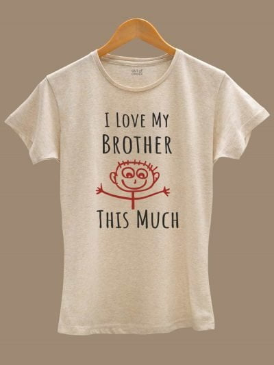Buy i love my brother t-shirt displayed on a hanger