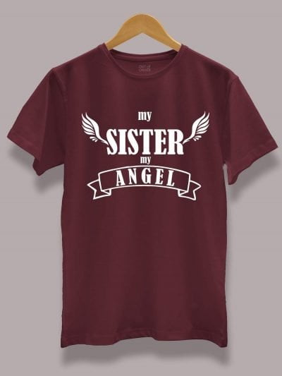 Buy My Sister My Angel T-shirt displayed on a hanger