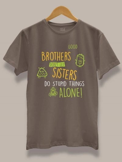 buy stupid things brother t-shirt displayed on a hanger