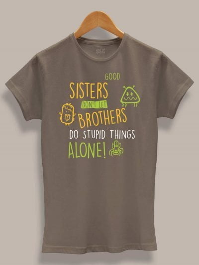 Buy Stupid Things Sister T-shirt displayed on a hanger
