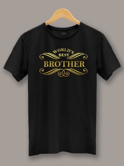 Buy World's Best Brother T-shirt displayed on a hanger