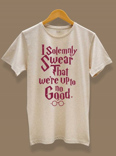 buy I solemnly swear men's t-shirt displayed on a hanger