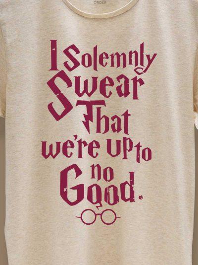 close up of I Solemnly Swear T-shirt design
