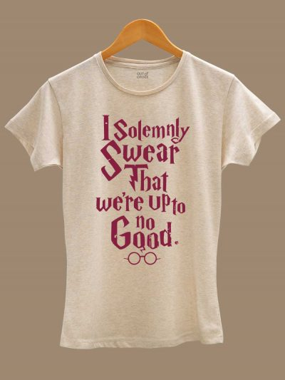 buy I Solemnly Swear Women's T-shirt displayed on a hanger