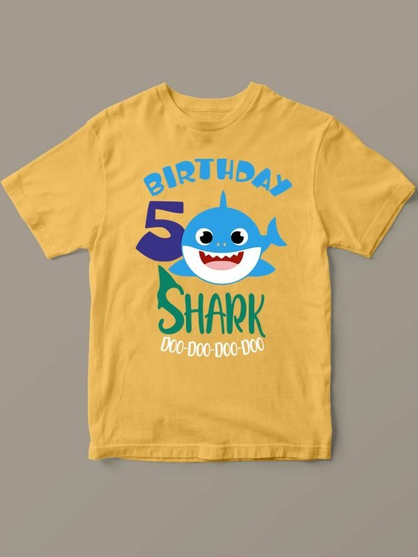 Buy Baby Shark Birthday T-shirt for Boy