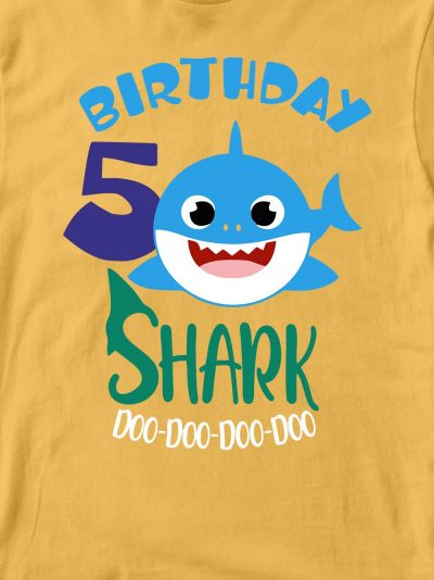 Close up of Baby Shark Birthday T-shirt for Boy Design