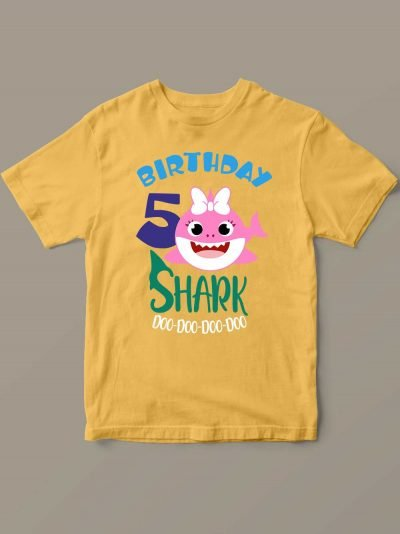 Buy Baby Shark Birthday T-shirt for Girl