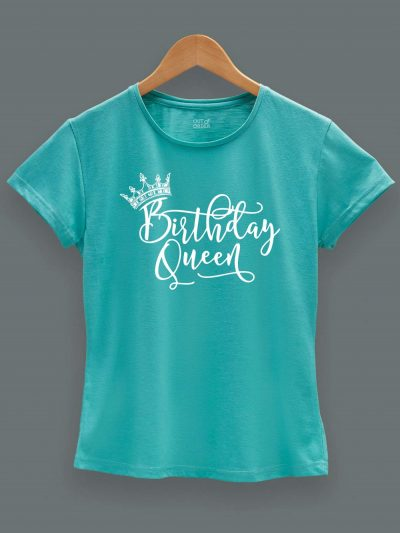 Buy Birthday Queen T-shirt displayed on a hanger