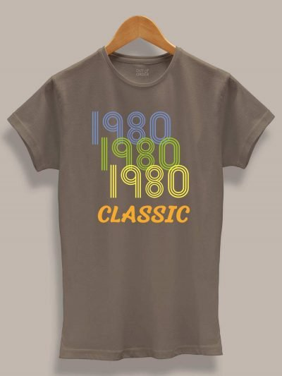 Buy Classic Lines Women's Birthday T-shirt displayed on a hanger