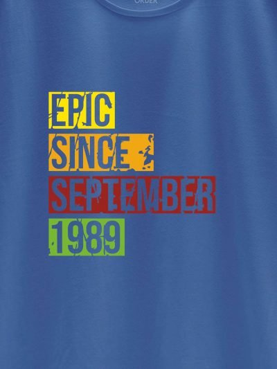 close up Epic Since Men's Birthday T-shirt design