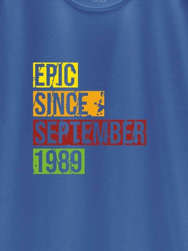 close up Epic Since Men's Birthday T-shirt design