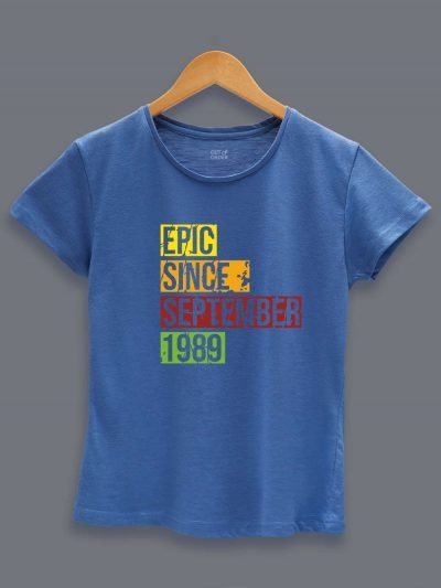Buy Epic Since Women's Birthday T-shirt displayed on a hanger