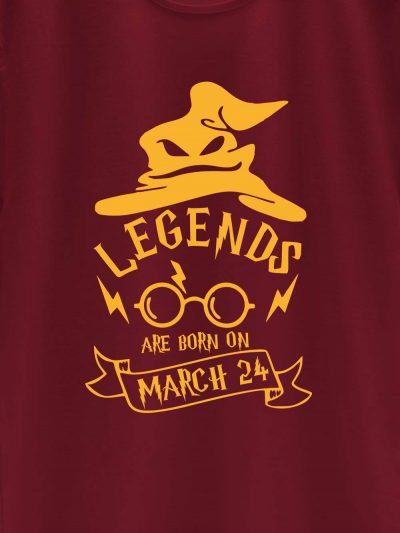 close up of Harry Potter Birthday T-shirt for Boys design